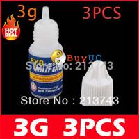 3 X 3g Acrylic Nail Art Glue French False Tips Manicure