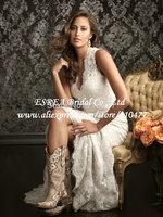 Vintage Vintage Lace  Mermaid Wedding 2014 Elegant Lace Wedding Gown Long RG1313
