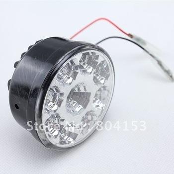 Fress shiping 2pcs/set  White Superflux 9 LED Car Auto DRL Daytime Running Day Driving Fog Light Lamp
