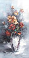 Free Shipping Wall Decor Hand Made Original Art Impression Impasto Flower Oil Paintings