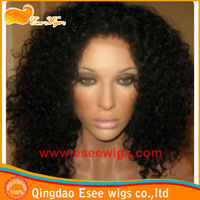 Hotsale:Stock water Wave 100 indian remy Hair full lace wigs, Density 120%, hair color 1B-- can ship immediately