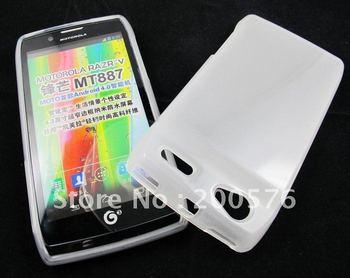 Razr V MT887 XT887 Electrify 2 High Gloss Soft Skin Gel TPU case for Motorola 100pcs a lot