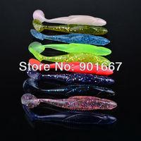 Promotional! 20pc/loe soft bait 10 colors 11CM/6G fishing lures,Soft lures,fishing lure swim bait fee shipping