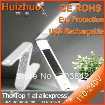[Huizhuo Lighting]Fashion Folding Design white led desk lamp,high power eyes-protection led reading lamp