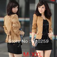 A333 2013 spring autumn women new fashion camel black long sleeve slim blazer coat bow short jackets suit plus large size XXL