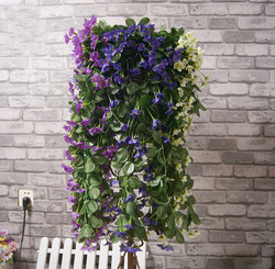 "20pcs/Lot ,29""/74cm Lifelike Violet Orchid Ivy Artificial Flower Hanging Plant Silk Garland Vine ,9 Colors, Wholesale(China (Mainland))"