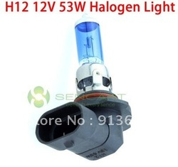 H12 53W halogen lamp White lights 6500K Fog DRL Bulbs 12V for Car(China (Mainland))
