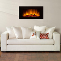Glass indoor wall mounted electric fireplace(China (Mainland))