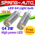 FREESHIPPING 12V G4 LED bulb lamp DC 3W. High power chip,Aluminum Body,2700K /6500K/8500K,WW/NW/CW,Long life,10pcs/Lot