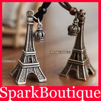 (10% off on wholesale)  Fashion Metal Eiffel Tower Necklace Paris Eiffel Tower Pendant Necklace