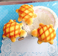 Wholesales ! 7.5CM New Tortoise/Turtle Bread Bun Squishy Cell Phone Charm/Free Shipping