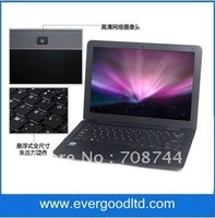 Free  Shipping 13 inch Intel Atom D2500 Ultrathin Notebook Computer Laptop Windows 7 Memory~1GB HDD~160GB Wifi Camera