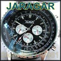 HOT!New Arrival Classic Style 30pcs Cheapest Automatic Mechanical Wrist Watch,JARAGAR Watch,High Quality PU Band,LLW-J-1019-2