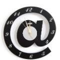 Wall clock,DIY clock,ornamental @ letter cartton clock, Free Shipping W0040