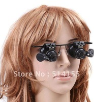 NO.9892A-II. Eyeglasses 20X Magnifier Watch Repair Glasses Style Loupe With LED Light Freeshipping Dropshipping