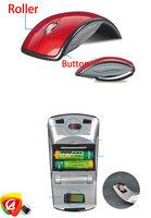 4colours  2.4G USB Cordless Folding Wireless Mouse for desktop Notebook Laptop add retail box