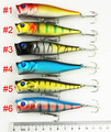 Super price 90mm Popper fishing hard bait (PO019)  9CM 14G 4# hooks hard plastic lures  6 colors 30pcs free shipping