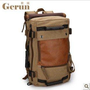 Gerun High-grade Canvas backpack  /  Shoulder bag / Travel bag carryall bag  / GR9701-135