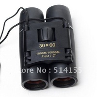 Fishing Telescope Glasses Binoculars Folding 30 x 60 126M/1000M Free Shipping mini binocular Telescope Tourism Watch the game
