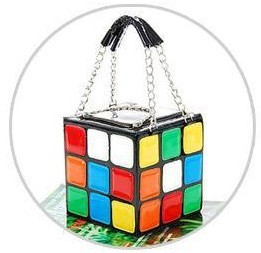 2013 portable magic cube bag summer tote bag personalized japanned leather small bag