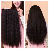 Free shipping-60cm deep wavy synthetic  hair 5 clip-in hair extension 120g 1pc for full head  hair weft  3colors