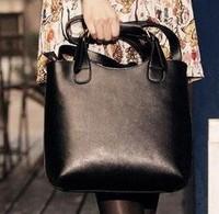 2014 Casual  Vintage Celebrity Women Handbag PU Leather Tote Shoulder Shopper Bag Mult 4 Colors Super Star
