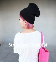 10pcs/lot,Autumn and winter men and women the same style fluorescent color hats, adult knitted caps,multicolor,free shipping