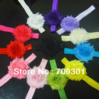 "Wholesale 2.5"" Shabby Chic Flower On Foe Headbands  36Pcs Free Shipping"