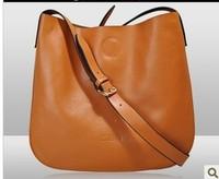 PROMOTION  genuine leather bags women handbag flat shape shoulder bags two constructions multi colors