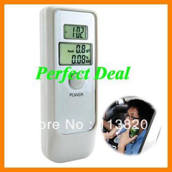 Free Shipping China Post Digital Alcohol Tester Timer Analyzer Breathalyzer Detector Dual LCD Display