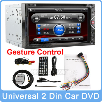 """Free Shipping Universal 7"""" Digital Touch Screen 2 Din IN Dash Stereo Car DVD Player With Radio Bluetooth SD"""