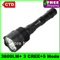 High-quality And Cheap TrustFire TR-3T6 3800 Lumens 3 * CREE XM-L T6 LED 5 Mode Flashlight Torch