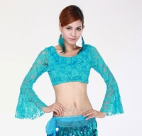 Belly Dance Costume Flare Sleeve Lace Top,Belly Dance Wear,Practice Belly Dancing Top,9Colors Available,Free Size