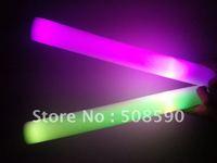 7 function  free shipping 360pcs/lot 4*40cm multi color changing led foam stick foam glow stick flash  light stick for Christmas