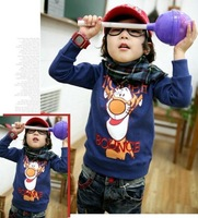 2012 fashion autumn children's Hoodies cute tiger boys girls long sleeve sweatshirts