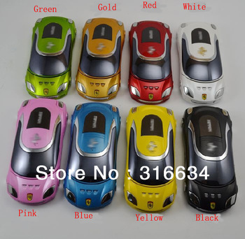 Free Shipping by Sweden Post! 8 nice colors available! Dual sim cards Luxury mobile phone Flip car shaped mobile phone W8