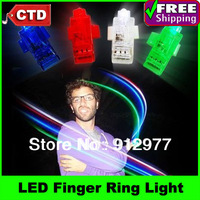 4 pcs/pack Party Light Multi-color Bright LED Finger Ring Light Laser Finger Beams