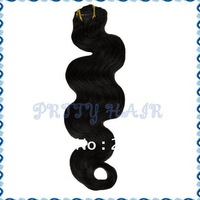 "Wholesale, 2*7pcs 20"" 16clips,Color#1B Clip in  Hair Extensions, Brazilian Remy Human Hair, Body Wave,7399"