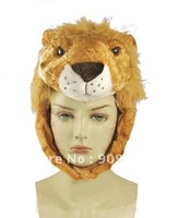 2013 New Arrival! Plush Animal Shaped Hats Lion Head Hat Plush Winter Warm Hat Cap