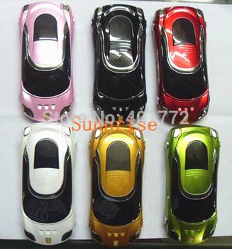 New W8+ Unlocked Fashion Flip Sports Car Phone Luxury Phone Quad Band Dual Sim Card Children Mobile Phone Russian Keyboard