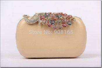 Free Shipping Hot-Sale New arrival Peacock diamond women fashion dress evening bags clutch party handbag BB5856
