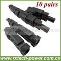 Wholesale MC4 T branch solar cable power connector, best selling in 2013, factory price and fast delivery