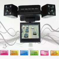 High quality dual camera 120 degree car auto vehicle DVR camera vedio recorder black box