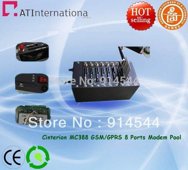 The Cheapest Cinterion MC35I MC39I Module GSM GPRS 8 Ports Modem pool with Modem Pool USB Interface 900/1800MHz(China (Mainland))