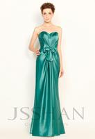 11P128 Strapless Ruched Teal Elastic Woven Satin Junoesque Elegant Gorgeous Luxury Unique Evening Dress Short Prom Dress