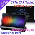FREE SHIPPING EMS 2Din Android Car PC Multimedia 777A 3G WiFi Tablet PAD+HD Android 2.3 OS,1GHz CPU,512M RAM,DVD GPS IPOD,RDS