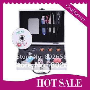 Free Shipping (1 Set/Lot ) False Eye Lash Eyelash Eyelashes Extension Kit Full Set with Case