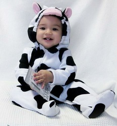 2013 new baby clothing set Spring and Autumn romper baby character Dairy cow clothes wholesale baby jackets C001 free shipping(China (Mainland))
