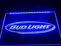 LA001- Bud Light Beer Bar Pub Club NR Neon Light Sign hang sign home decor shop crafts led sign
