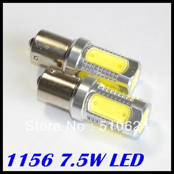 Car lights, 2x Super Bright White 7.5W LED SMD 1156 Ba15s S25 P21W Backup Reverse Light Bulb